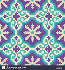 vintage moroccan ceramic floor tile seamless pattern with