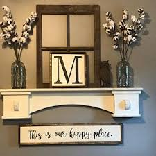 This Is Our Happy Place Sign Farmhouse Rustic Diy Modern Living Room DecorFarmhouse