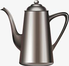 Silver Coffee Pot Vector Png Kettle PNG And