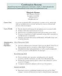 Administrative Assistant Resume Summary Administrator Chronological Sample Seni