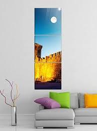 de acrylglasbilder 3 teilig 50x150cm schloss alt