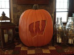 Pumpkin Patch Green Bay Wi by Wisconsin Badger Halloween Pumpkin Carved From A Fun Kin Taped Red