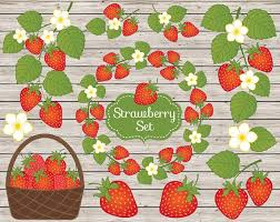 Strawberry Clipart Vector Strawberry Clipart Rustic Clipart Strawberries Clipart Vector Berry Clipart Strawberry Clip Art