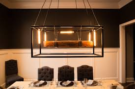 buy crafted wood beam large chandelier framed light with