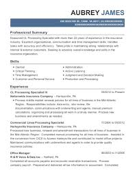 View Resume CL Processing Specialist III
