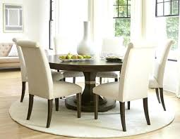 Rug Under Dining Table Size White Round 6 Chair