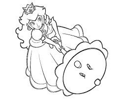Pin Princess Peach Clipart Coloring Page 7