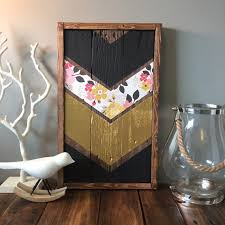 11x18 Reclaimed Pallet Wood Chevron As Shown Handmade And Hand Painted No Tape Or Vinyl Was Used Beautiful Metallic Gold Paint Along