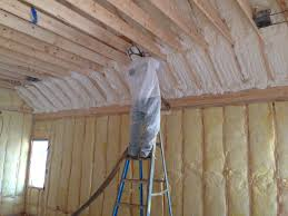 Insulating Cathedral Ceilings With Spray Foam by Hybrid Insulation With Fiberglass On The Exterior Walls And Spray