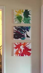 Disney Inspired Art Using Vinyl Stencils And Melted Crayons Could Also Be Cool To Splatter Paint If The Are Too Challenging
