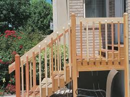 Exterior Stair Railings Exterior Wooden Stairs And Railings