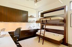 bedrooms twin fold away wood bunk beds with l shaped study desk