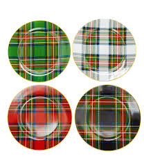 Dillards Christmas Tree Ornaments by Noble Excellence Holiday Plaid Accent Dinnerware From Dillards