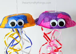 Make A Colorful Jellyfish Craft Out Of Paper Bowl