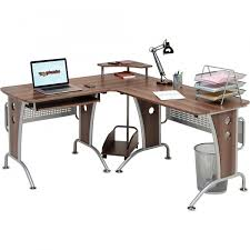 Techni Mobili L Shaped Computer Desk by Large Corner Computer Desk With Keyboard Shelf Home Office Piranha