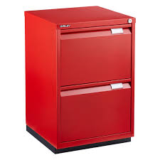 bisley red premium 2 drawer locking filing cabinet the container