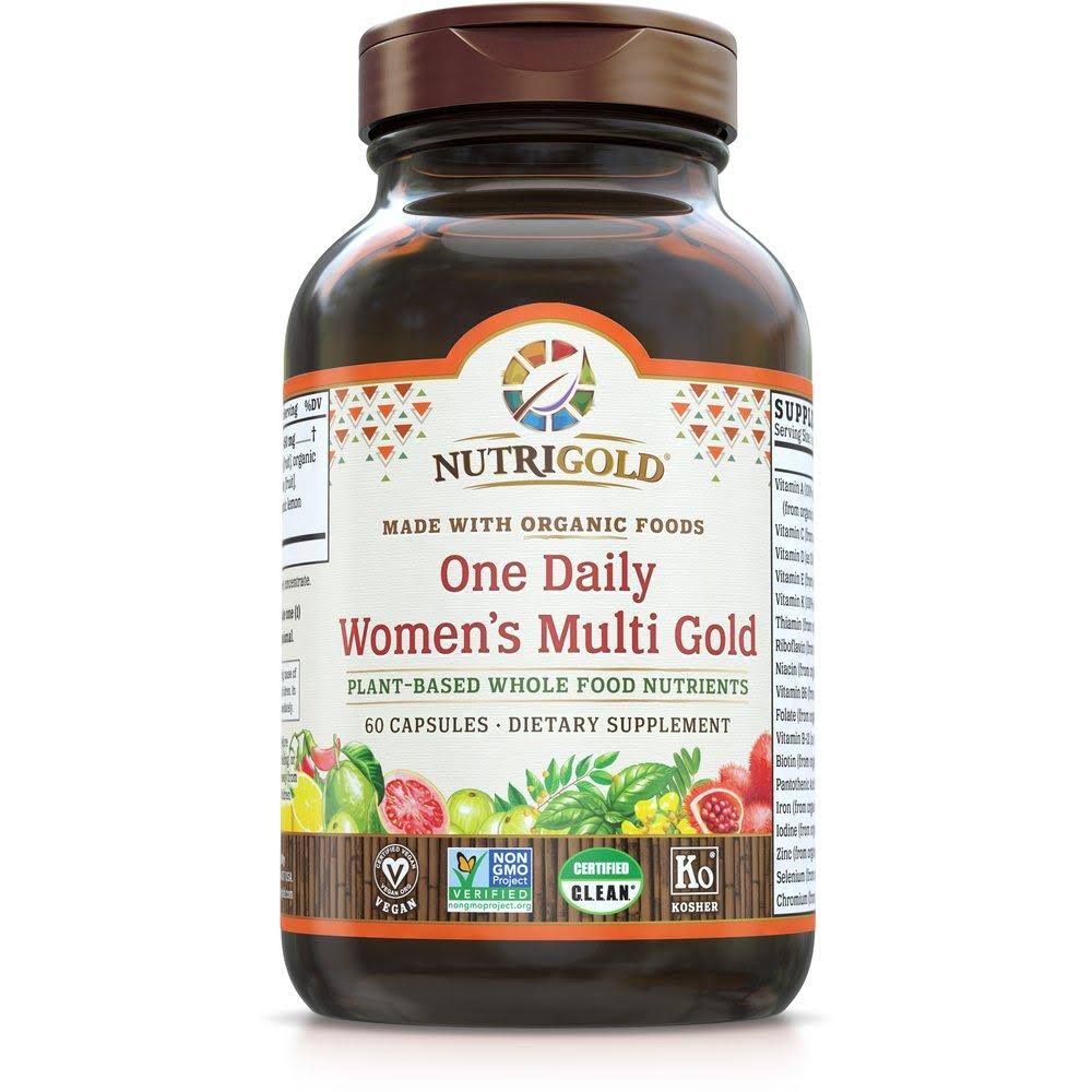NutriGold Organic Whole Food Womens One Daily Multi Gold Veggie Capsules - 60ct