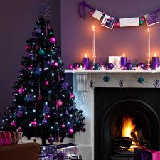 Coral Pink And Hint Of Silver On Black Is Absolutely In Trend A Very Non Traditional Christmas Decoration But Perfect For Those Who Love Experimenting