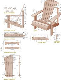 free adirondack chair plans printable download supplies for