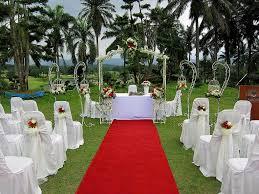 Great Outdoor Garden Wedding Venues Creative White Themed Ideas