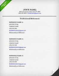 References On A Resume