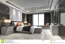 100 Modern Luxury Bedroom 3d Rendering Suite In Hotel With Decor Stock