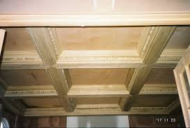 Cheap Diy Basement Ceiling Ideas by Easy Coffered Ceiling Cheap And Easy Way To Do Crown Moulding Or