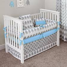 Amazon CUSTOM BOUTIQUE BABY BEDDING Ele Blue 5 Pc Crib