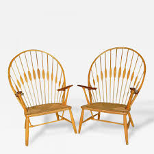 100 1960 Vintage Metal Outdoor Chairs Hans Wegner 2 Peacock By Hans Wegner C