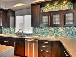 KitchenShabby Chic Kitchen Idea With Textured Wood Cabinets Also Mosaic Backsplash Tile And Glossy