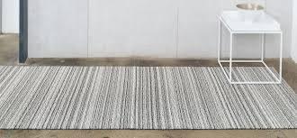 Chilewich Floor Mats Custom Size by Chilewich Floor Indoor Outdoor Mats Shag Skinny Stripe Birch