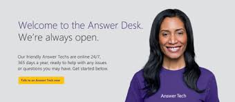 Microsoft s Answer Desk fers Live Free and Fee Tech Support
