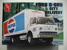 1/25 AMT Ford C-600 Pepsi City Delivery Truck | Scale Auto Model Kit ...