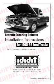 Ididit Retrofit Steering Column: 1965-66 Ford Truck User Manual | 8 ... 66 Ford F100 Trucks Pinterest Trucks And Vehicle 4x4 Ford F100 My Life Of Cars Pickup Tom The Backroads Traveller 1966 Value Truck Enthusiasts Forums Aaron G Lmc Life Ford Pickup Truck Youtube Pick Up Rat Rod Recent Import With A Police Quick Guide To Identifying 196166 Pickups Summit Racing 6166 Left Door Ea Cheap Find Deals On Line At Alibacom Exfarm Truck Is The Baddest Pickup Detroit Show