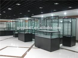 shopping mall lighted glass display kiosk tempered glass filing