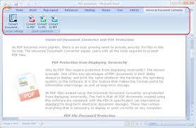 Universal Document Converter Toolbar In Microsoft Word 2007