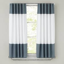 alston 50 x84 ivory grey striped curtain panel crate and barrel