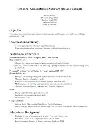 Administrative Assistant Resume Objectives Senior Executive Free Templates Sample Objective