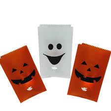 Halloween Flickering Light Bulbs by Northlight Flickering Light Pumpkin And Ghost Halloween Luminary
