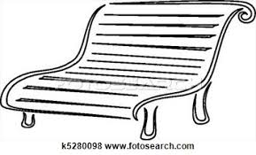 Park Bench Clipart Black And White