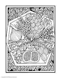 Adult Coloring Page For Tu Bshvat From Shalom