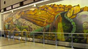 Denver International Airport Murals Painted Over by Zeb The Duck Goes To Denver International Airport U2013 Colorado