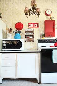 Columbus Sotto Retro Chic Kitchen Shabby Style With Vintage Battery Powered Wall Clocks Color