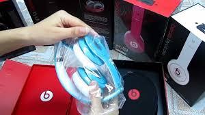 Monster Beats By dr dre Light Blue Solo HD Over Ear Headphones