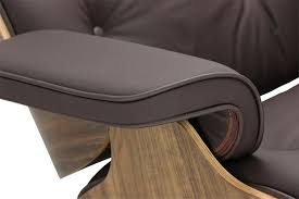 Designer Replica Eames Lounge Chair -Dark Brown Leather   Furniture ... Eames Wood Lounge Chair Plywood With Base Sothebys Home Designer Fniture Charles And Ray Molded Ding Metal Herman Miller Mlf Scdinavian Design Chair Kevi Wood Base Jrgen Rasmussen With Lcm Vitra In Walnut Black The Shop Replica White Leather