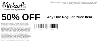 Pinned February 10th: 50% Off A Single Item At Michaels ... Michaels Art Store Coupons Printable Chase Coupon 125 Dollars 40 Percent Off Deals On Sams Club Membership 2019 Hobby Stores Fat Frozen Coupon 50 Off Regular Priced Item Southern Savers Black Friday Ads Sales Doorbusters And 2018 Entire Purchase Cluding Sale Items Free Any One At Check Your Team Shirts Code Bydm Ocuk Oldum Price Of Rollections