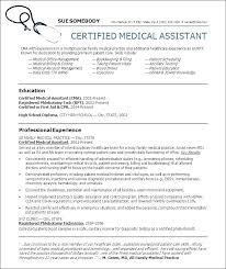 Medical Assistant Resume Examples 2016 Samples Template Administrative