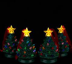 Qvc Christmas Tree Storage Bag by Mr Christmas Set Of 4 Mini Nostalgic Tree Ornaments With Gift