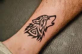 3d Colorful Wolf Tattoos Designs Also Available For Women This Realistic On Thigh Looking Cool