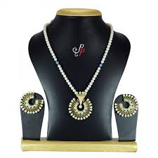 100 Pearl Design Necklace In Chand Bali Like Pendant Set